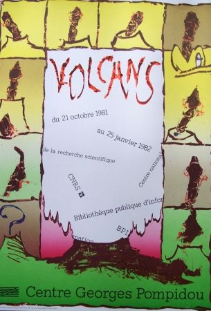 Affiche Alechinsky - Volcans
