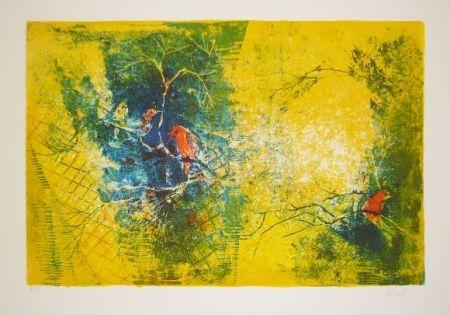 Lithographie Lebadang - Volière