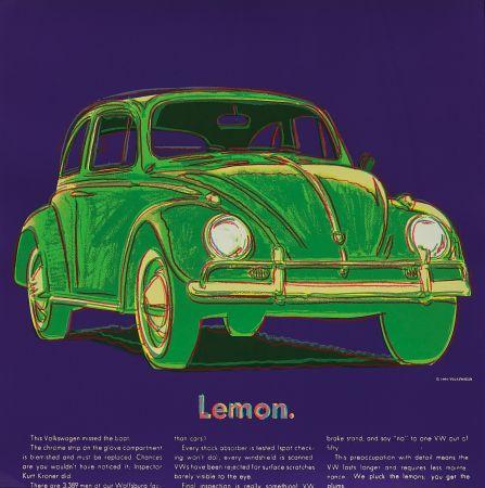Sérigraphie Warhol - Volkswagen