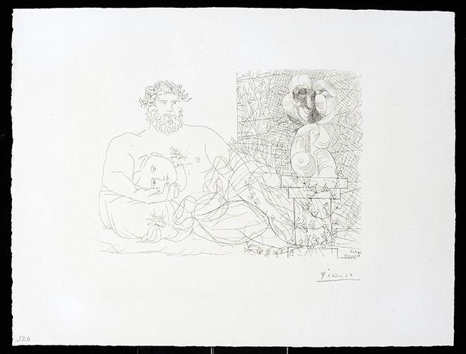 Gravure Picasso - Vollard Suite – Sculptor and Model