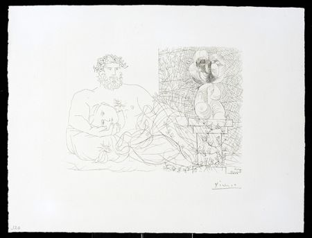Gravure Picasso - Vollard Suite – Sculptor and Model