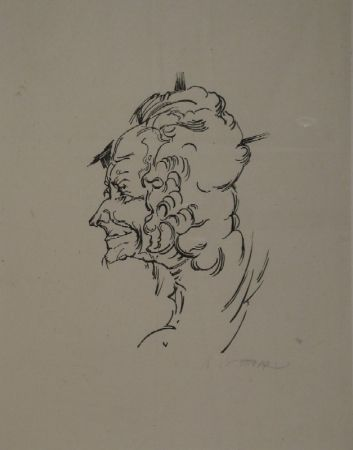 Gravure Sur Bois Oppenheimer - Voltaire