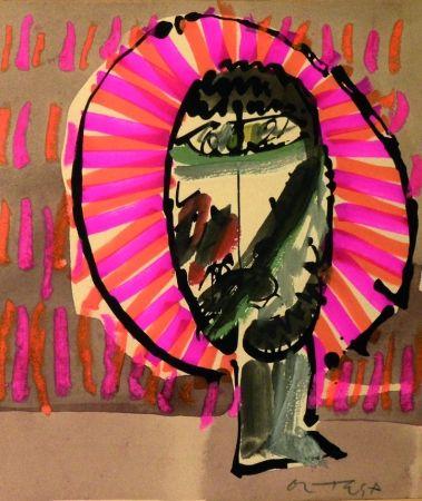 Lithographie Ortega - Volto