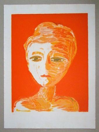 Lithographie Guidi - Volto Rosso