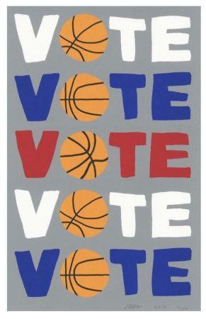 Sérigraphie Wood - Vote
