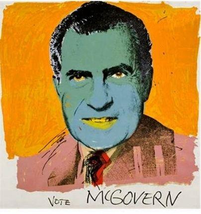 Sérigraphie Warhol - Vote McGovern
