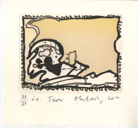 Gravure Alechinsky - Voyage de la racine