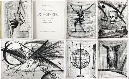 Livre Illustré Buffet - VOYAGES FANTASTIQUES AUX ÉTATS ET EMPIRES DE LA LUNE ET DU SOLEIL (Cyrano de Bergerac) 1958.