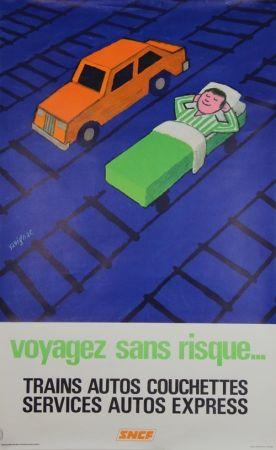 Lithographie Savignac - Voyagez sans Risques