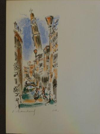 Lithographie Hambourg - Vue de Venise