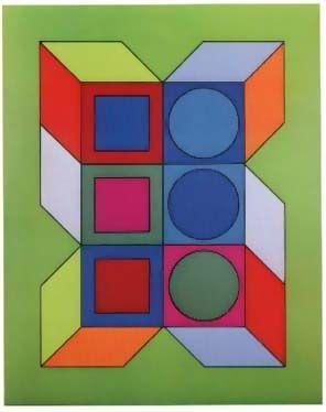 Sérigraphie Vasarely - Vy-29-B, From Album Xico Portfolio