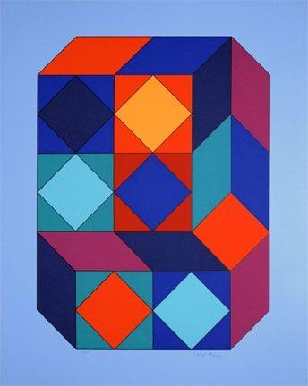 Sérigraphie Vasarely - Vy-29-F, From Album Xico Portfolio