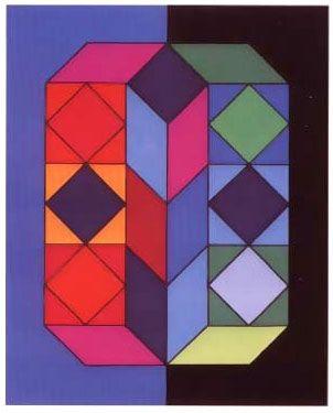 Sérigraphie Vasarely -  VY-29-G, from album xico portfolio