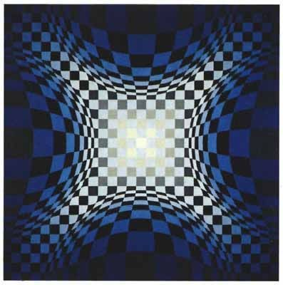 Sérigraphie Vasarely - VY-47-D, from the portfolio Gaia,