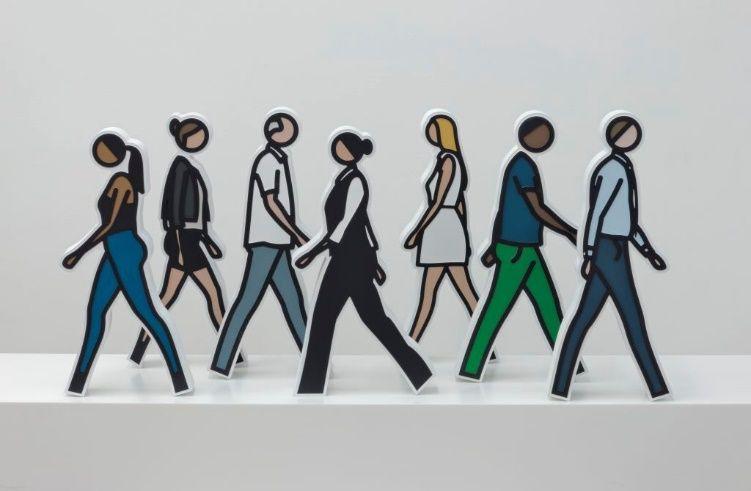 Aucune Technique Opie - Walking Statuettes, full set of 7