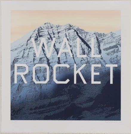 Lithographie Ruscha - Wall Rocket