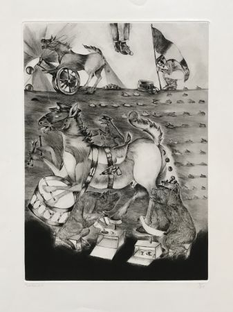 Gravure Toledo - War Horses