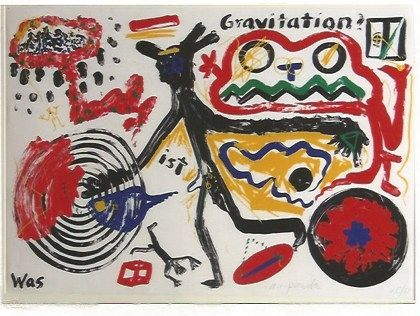Sérigraphie Penck - Was ist Gravitation