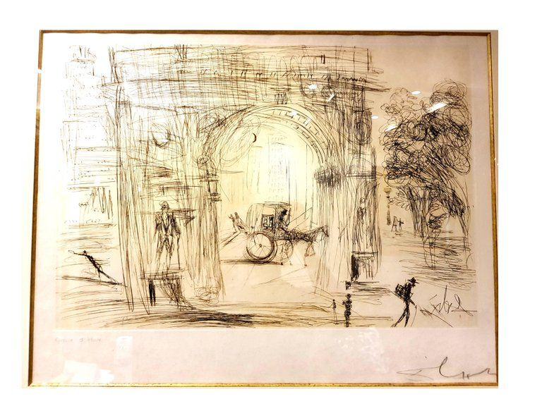 Lithographie Dali - Washington Gate