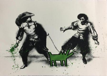 Sérigraphie Mr Brainwash - Watch Out! (Green)