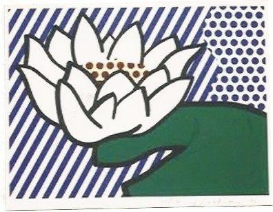 Sérigraphie Lichtenstein - Water Lily