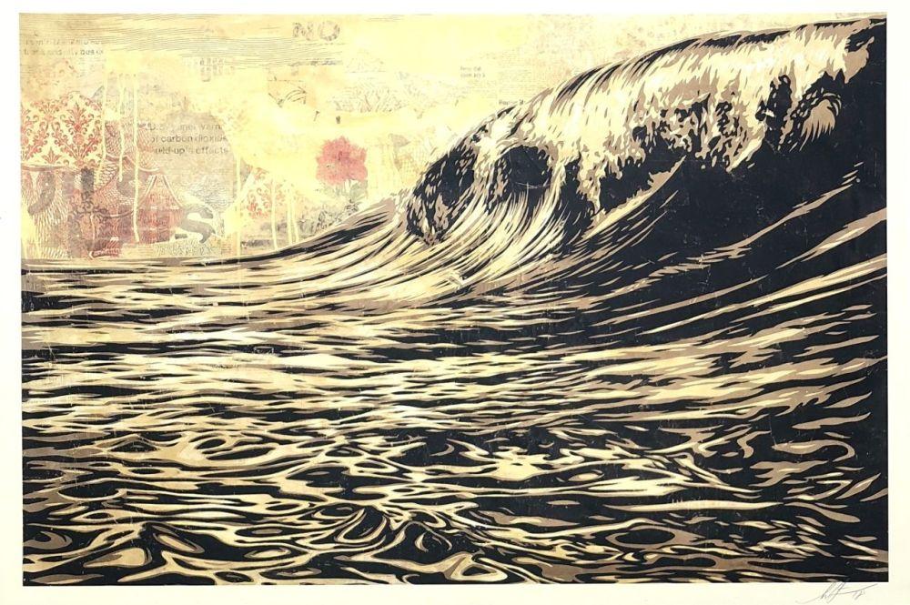 Sérigraphie Fairey - Wave