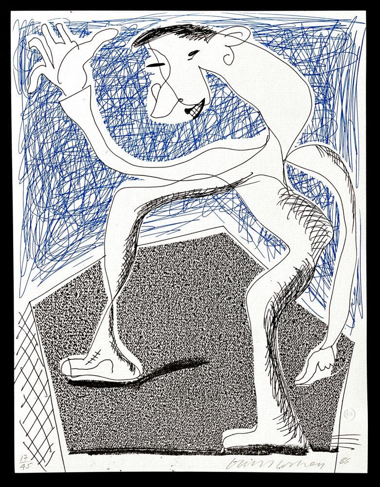 Aucune Technique Hockney -  Waving, April  1986
