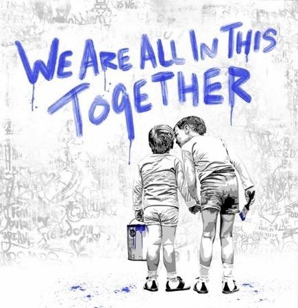 Sérigraphie Mr Brainwash - We Are All In This Together