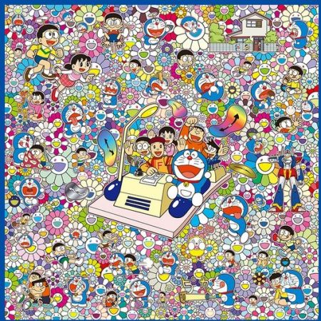 Sérigraphie Murakami - WE CAN GO ANYWHERE WITH MR. FUJIKO F. FUJIO AND THE TIME MACHINE!