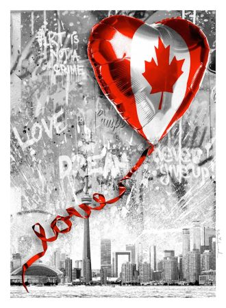 Sérigraphie Mr. Brainwash - We Love Canada