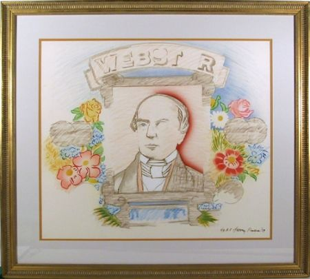 Lithographie Rivers - Webster
