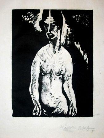 Gravure Sur Bois Schatz - Weiblicher Akt (Female Nude)