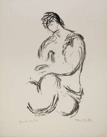 Lithographie Stadler - Weiblicher Akt / Female Nude