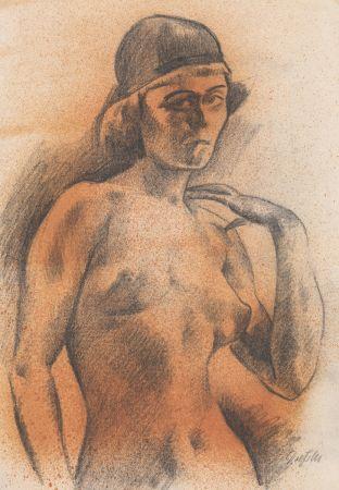 Aucune Technique Dressler - Weiblicher Akt mit Kopfbedeckung