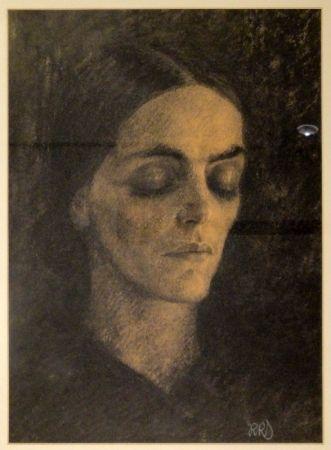Aucune Technique Junghanns - Weiblicher Kopf (Mary Wigman)