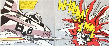 Lithographie Lichtenstein - 'WHAAM! (Diptych)' Pop Art Poster Print Set