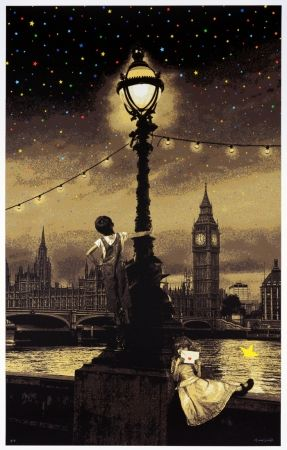 Sérigraphie Roamcouch - When you wish upon a star - London (sepia edition)