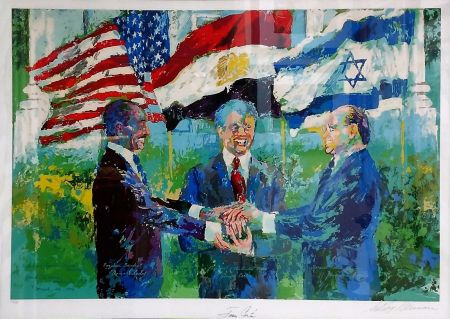 Sérigraphie Neiman - WHITE HOUSE SIGNING OF EGYPTIAN ISRAELI PEACE TREATY