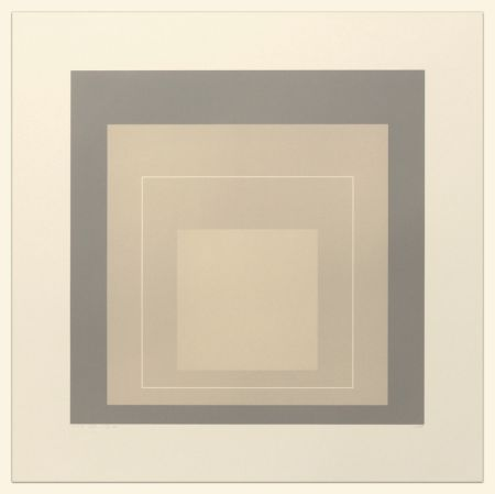 Lithographie Albers - White Line Squares (Series II), XIV
