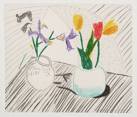 Lithographie Hockney - White Porcelain, From Moving Focus