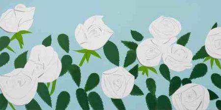 Sérigraphie Katz - White Roses