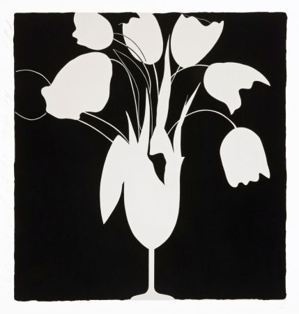 Sérigraphie Sultan - White Tulips and Vase