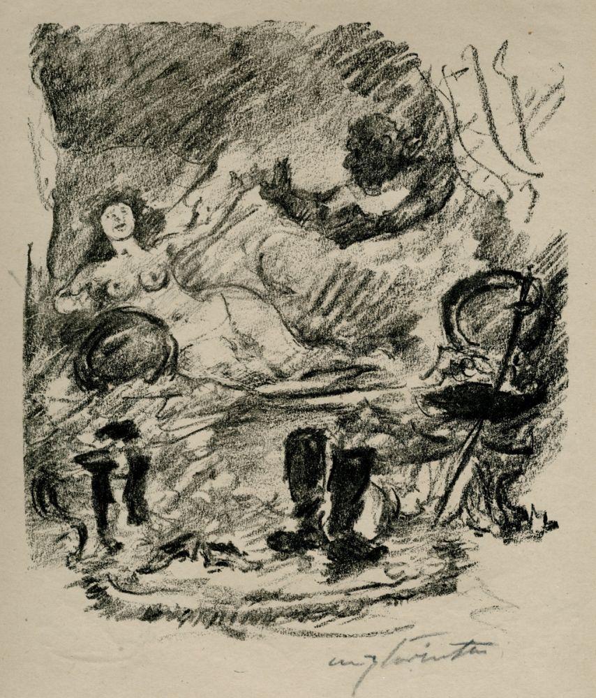 Lithographie Corinth - Wiedervereinigung mit der zur Gräfin emporgestiegenen Aline