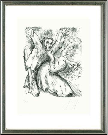 Lithographie Grass - Wilder Mann