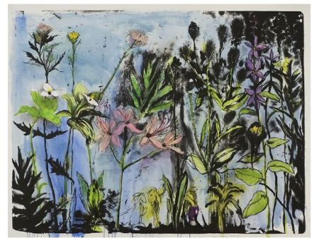Lithographie Dine - Wildflowers in New York I