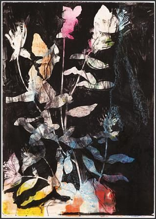 Lithographie Dine - Wildflowers In The Night
