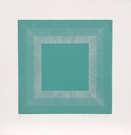 Aquatinte Anuszkiewicz - Winter Suite (Green with Silver)