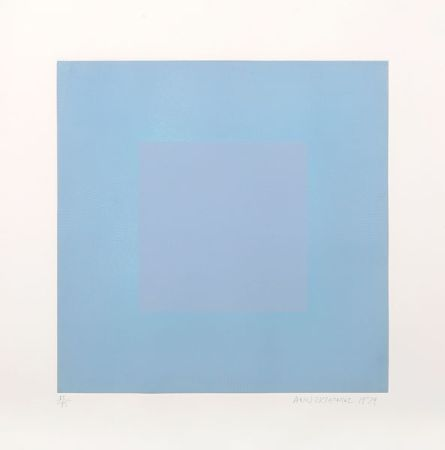 Aquatinte Anuszkiewicz - Winter Suite (Light Blue with Light Blue)