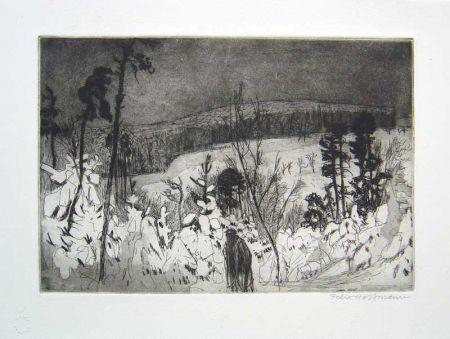 Eau-Forte Et Aquatinte Hoffmann - Winter Wanderer