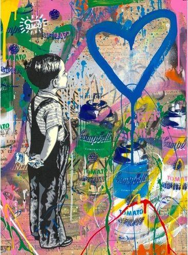 Sérigraphie Mr Brainwash - With All My Love, 2019